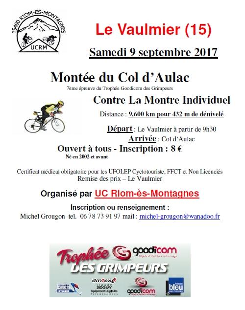 Montée du Col d'Aulac - samedi 9 septembre 2017