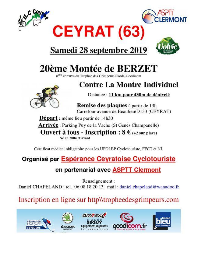 20ème Montée de Berzet