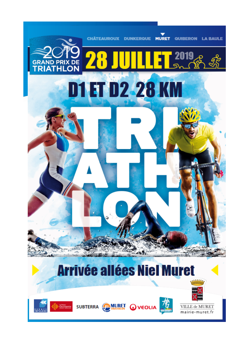 Affiche Triathlon du 28 juillet de AS Muret Triathlon