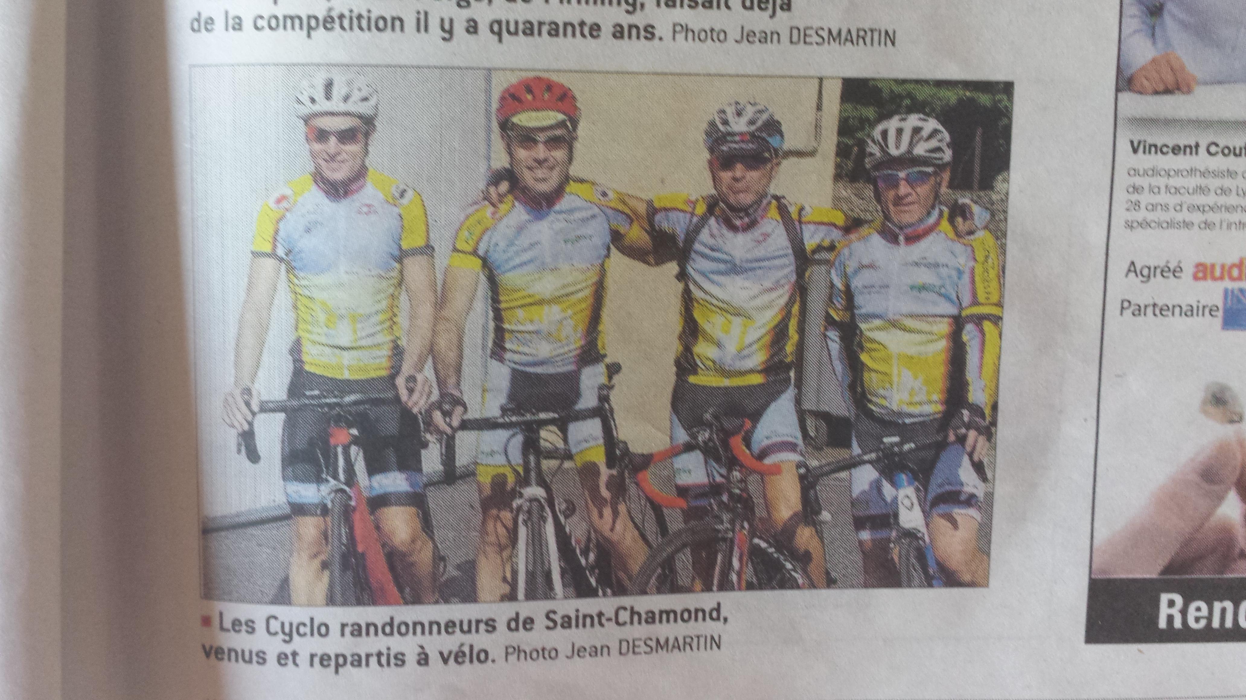 Montée chrono de Burdignes de Cyclo randonneurs saint chamonais