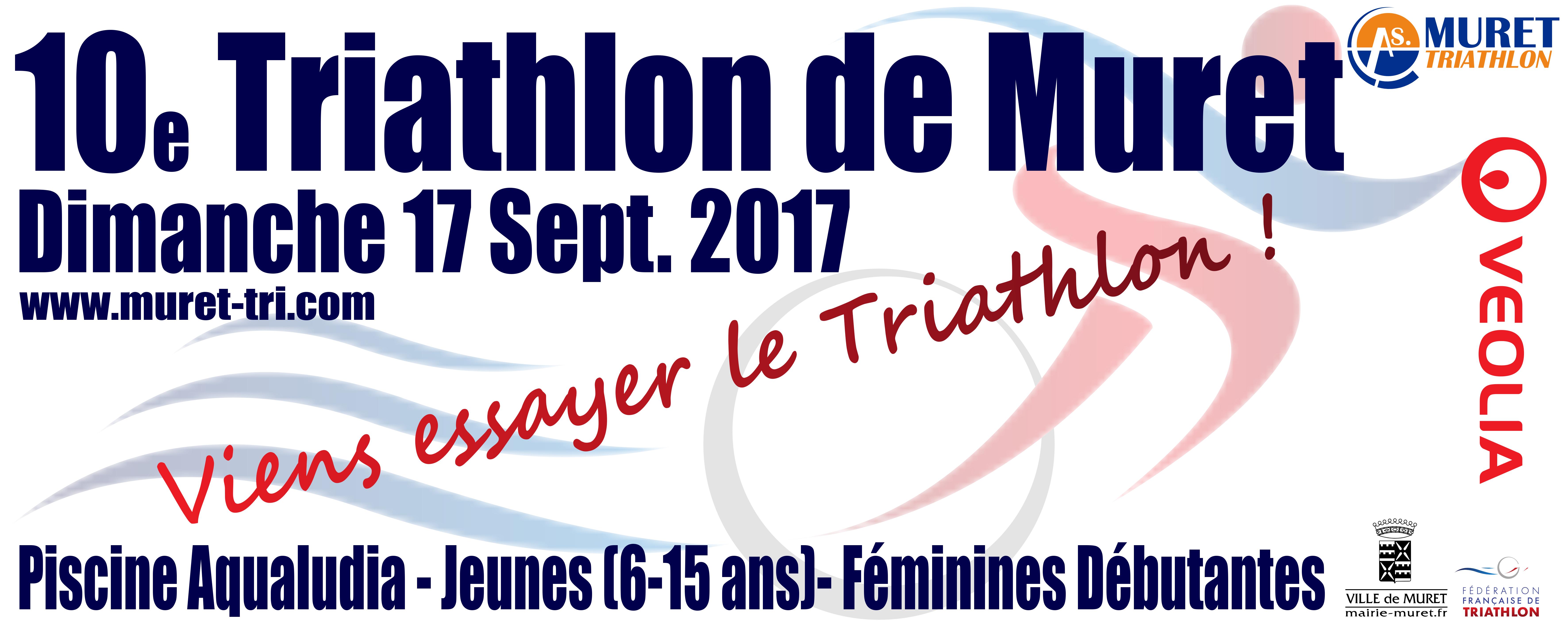 10e Triathlon Jeunes & Féminines Débutantes de Muret à Muret