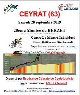 Montée de Berzet à CEYRAT