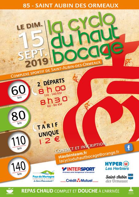 LA CYCLO DU HAUT BOCAGE 2019 140 KMS